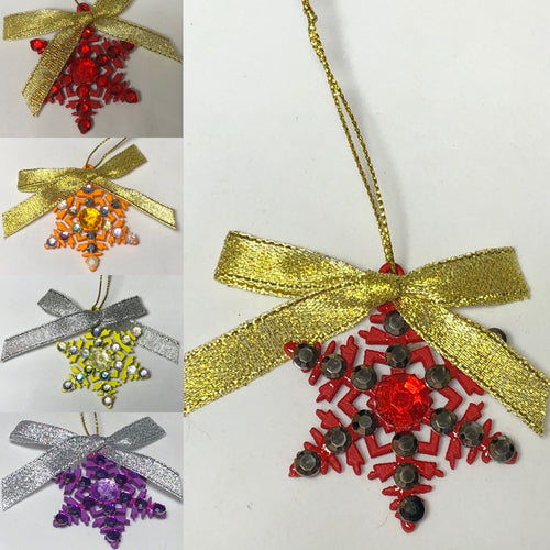 Gem Covered Snowflake Decoration