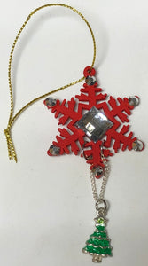 Snowflake Decoration With Hanging Charm