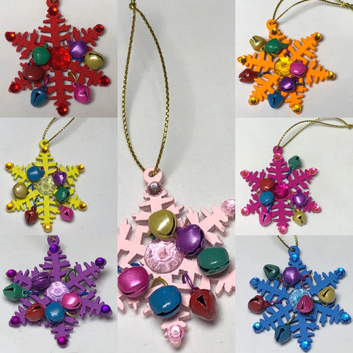 Snowflake Decoration With Bells