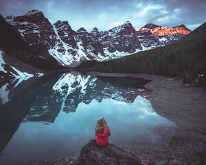 Girl at Moraine Lake