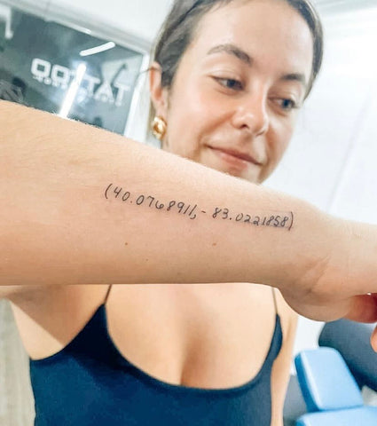 Tattoo with writing