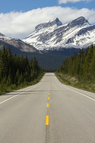 Icefields Parkway in Alberta