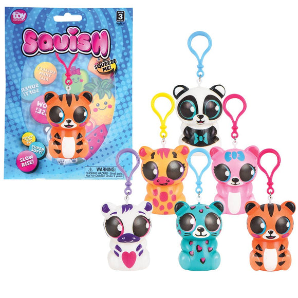 SQUISH ZOO ANIMALS BACKPACK CLIP 3