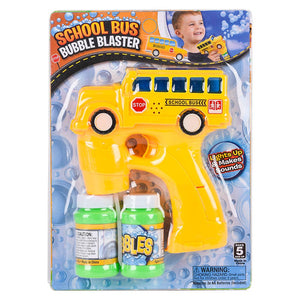 "5"" Light and Sound School Bus Bubble Blaster"