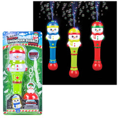 "12"" Snowman Light-Up Bubble Blower"