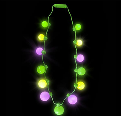"25"" LIGHT-UP MARDI GRAS BALL NECKLACE"