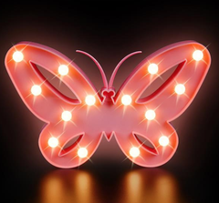 "9.5"" BUTTERFLY LED LIGHT BOX"