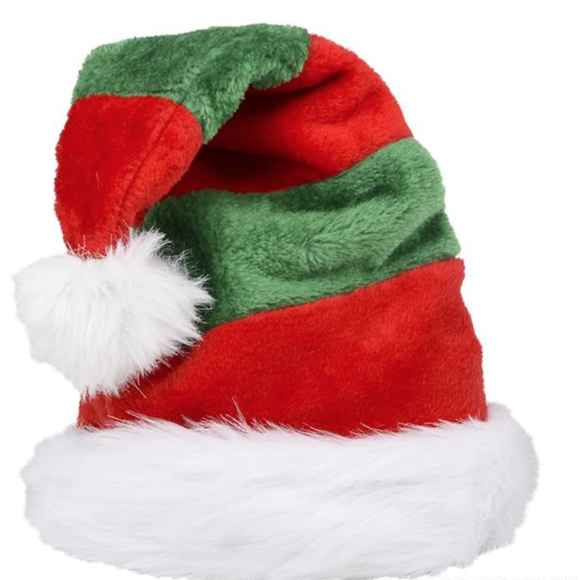 ELF STRIPED SANTA HAT
