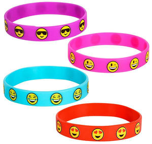 RUBBER EMOTICON BRACELETS-  pack of 12 ($0.5 each)