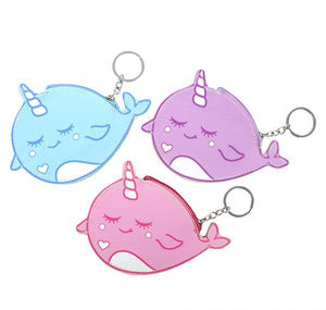 "6.5"" NARWHAL PURSE KEYCHAIN- pack of 12 ($1.5 each)"