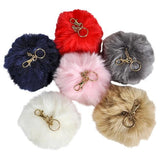 "6"" JUMBO FURRY POM POM CLIP-ON  KEYCHAINS- pack of 12 ($2.1 each)"