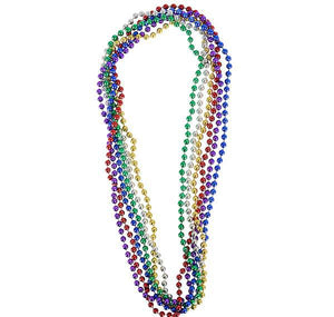 "33"" 7 mm METALLIC BEADS- pack of 24 ($0.25 each)"