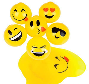 "2.5"" STICKY SPLAT EMOTICON BALL- pack of 12 ($1 each)"