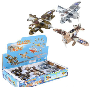 "6.5"" DIE CAST PULL BACK CAMO PLANES 6PCS/BX- pack of 6 ($6.7 each)"