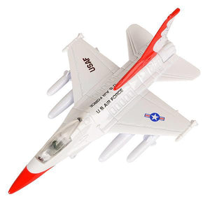 "7.5"" DIECAST PULL BACK F-16- pack of 6 ($12.5 each)"