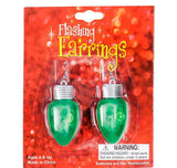 "2"" FLASHING BULB SHAPE EARRINGS- pack of 12 ($1.3 each)"