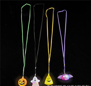 "2"" FLASHING HALLOWEEN NECKLACE ASSORTMENT- pack of 24 ($1.5 each)"