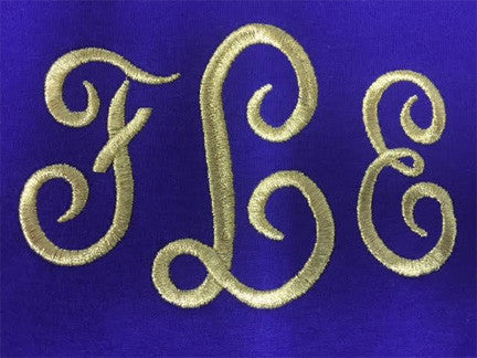 Metallic Monogram Embroidery