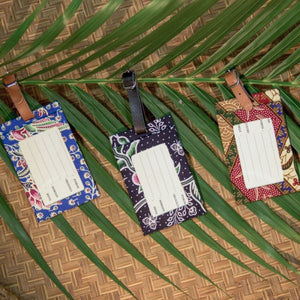 Floral Batik Luggage Tags