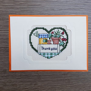 Cross Stitch Greeting Card - Thank You