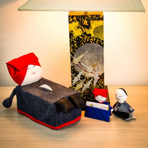 Denim Samsui Woman Tissue Box Cover