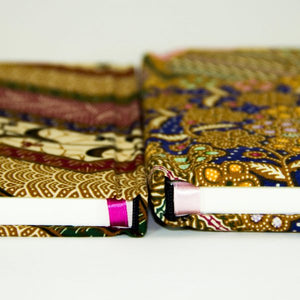 Sponge-Padded Batik Notebook