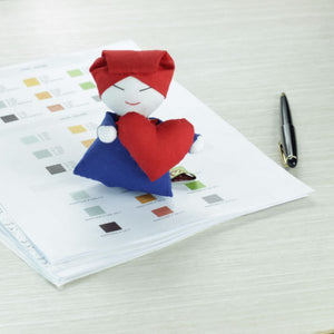 Samsui Paperweight with Heart