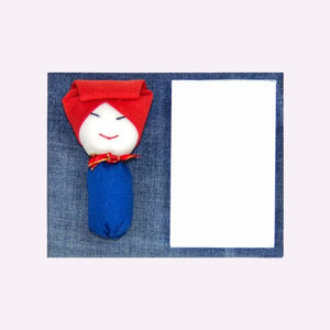 Denim Samsui Woman Magnetic Notepad