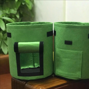 Fabric Pot (with handle & flap)