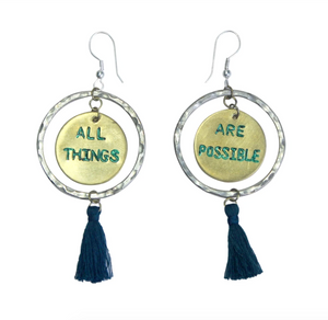 Earrings - All Things Are Possible (Round)