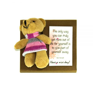 Bear Plush Mini Notepad
