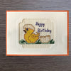 Cross Stitch Greeting Card - Happy Birthday