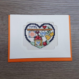 Cross Stitch Greeting Card - Hope