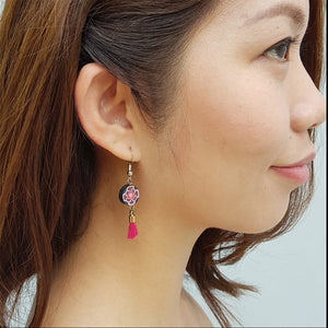 Tassel Floral Earrings