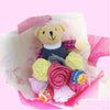 Bouquet of 6 roses, a bear & 2 lollipops