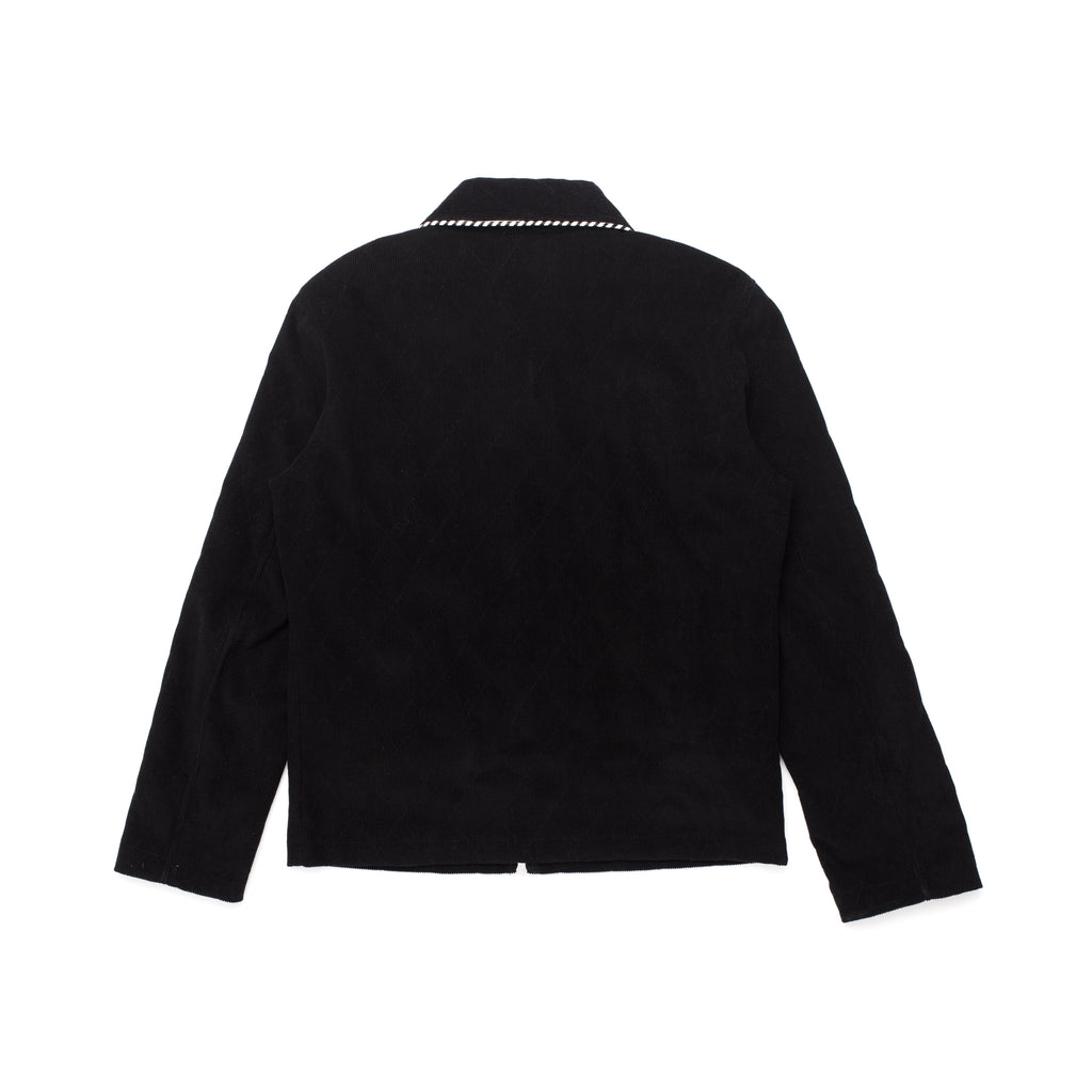 CORDUROY ZIP UP SHIRT BLACK