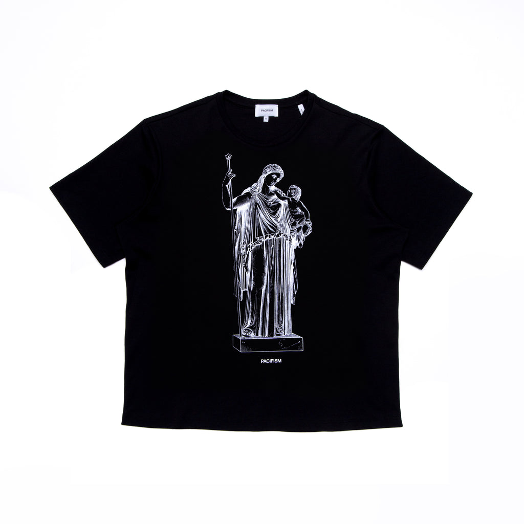 PEACE GODDESS TEE BLACK