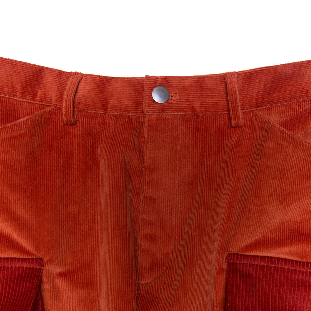 MIXED CORDUROY CARGO ORANGE