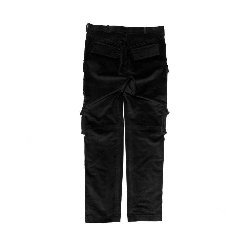 MIXED CORDUROY CARGO BLACK