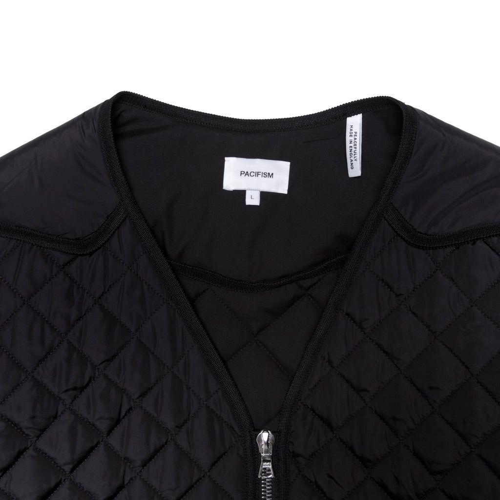 MULTI QUILT PUFFER JACKET BLACK