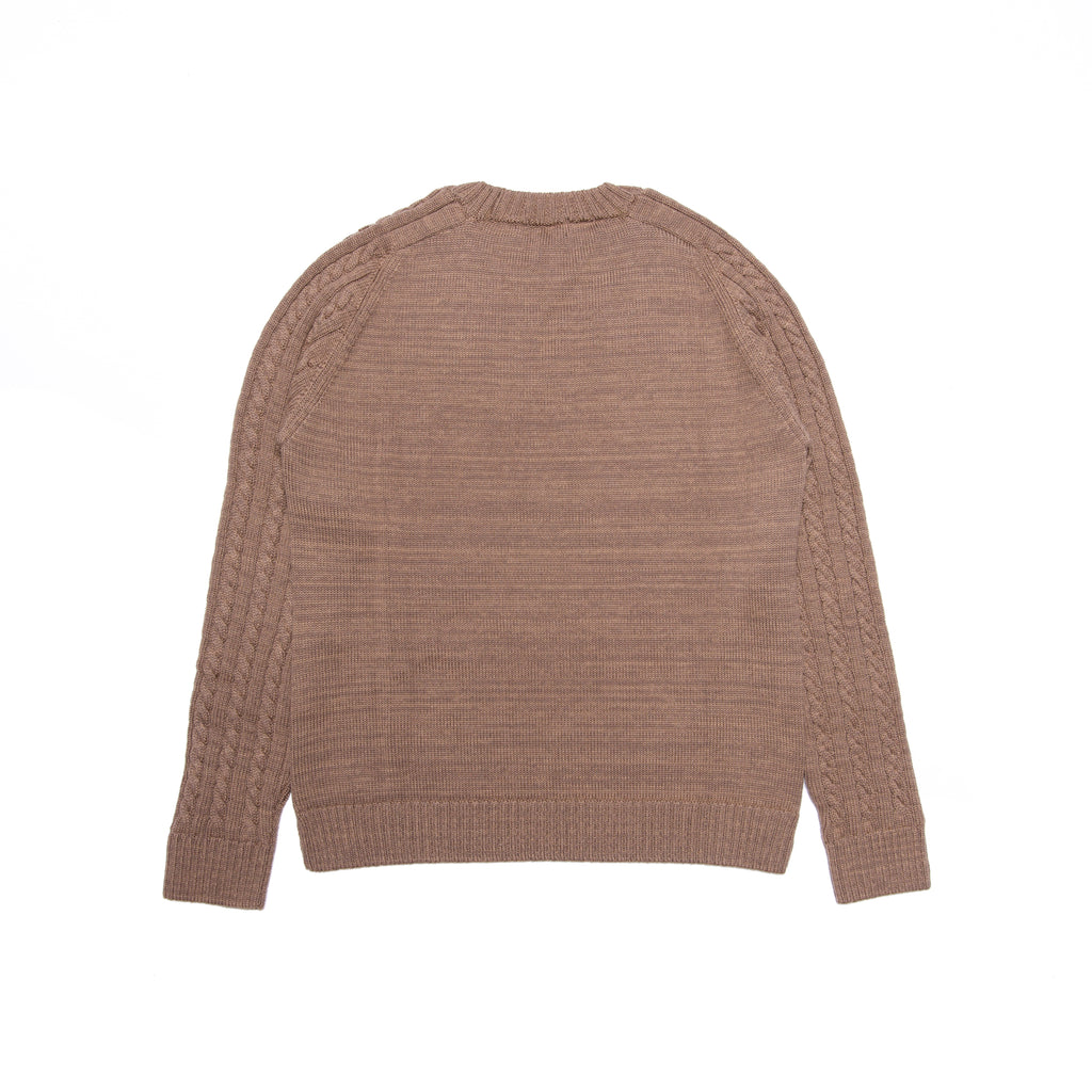 PEACE CABLE KNIT JUMPER BEIGE