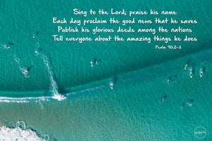 "Word + Image: Psalm 96:2-3 - The Farm, Killalea - 10x15"" Canvas"