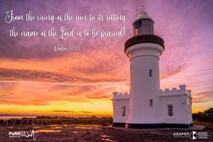 Word + Image: Psalm 113:3  - Point Perpendicular Lighthouse (WI005R)