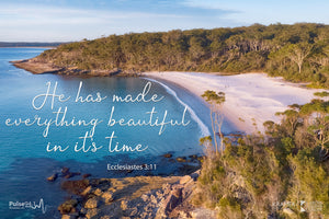 Word + Image: Blenheim Beach - Ecclesiastics 3:11
