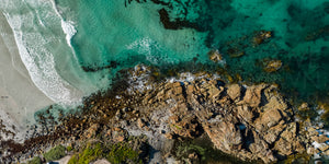 British Admiral Beach from Above, King Island (KI536P)