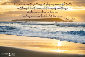 Word + Image: Colossians 1:19-20 Windang Island (WI061R)