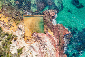 Eden Rockpool from Above, Sapphire Coast