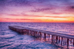 Naracoopa Jetty Sunset, King Island (KI032R)