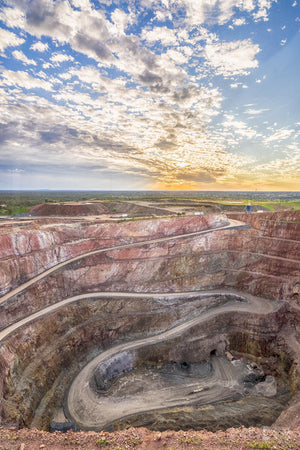 Open Cut Gold Mine, Cobar, Outback NSW (BO022VR)