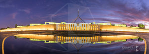 Parliament House 'Mauve Twilight' ACT (FA073P)